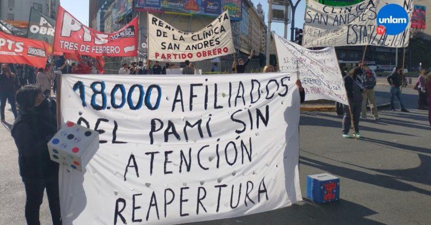 Le piden al PAMI que intervenga y reabra la Clínica San Andrés de Caseros por sus trabajadores y por el colapso sanitario