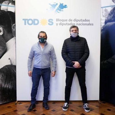 En otra foto de alto voltaje, Sasia se reunió con Máximo Kirchner, remarcó la importancia del tren y criticó a la oposición