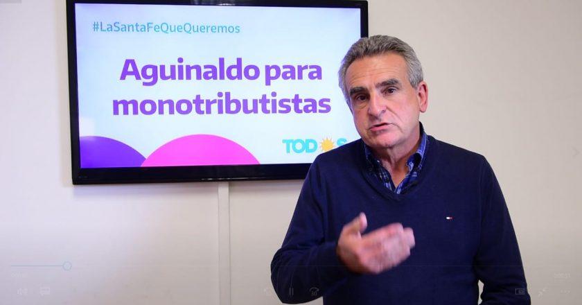 """Agustín Rossi propuso un aguinaldo para 2 millones de monotributistas """"para tener un país más justo e igualitario»"""