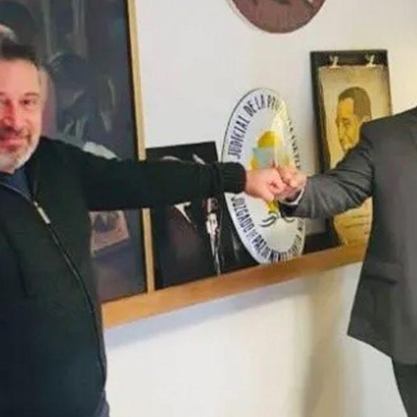 Manzur visitó a Víctor Santa María y reforzó su vínculo con sindicalistas