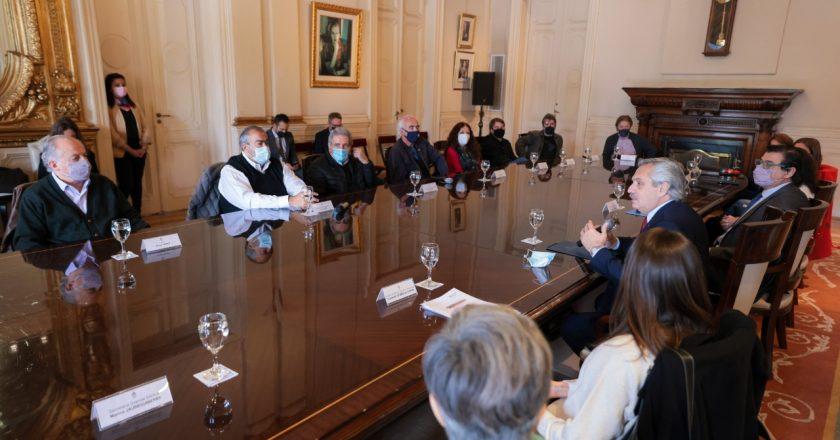 El Presidente presentó junto a dirigentes sindicales un proyecto de ley de Comités Mixtos de Seguridad