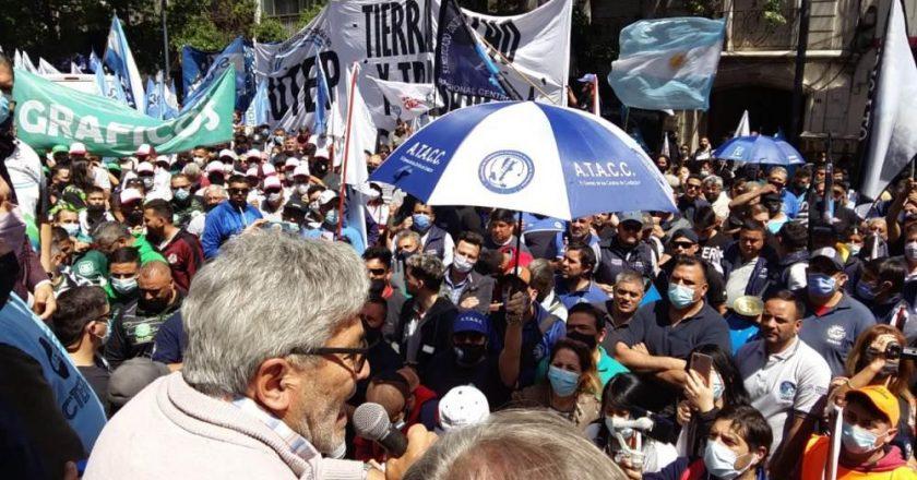 La CGT Córdoba movilizó en rechazo a la reforma laboral que promueve Juntos por el Cambio y contra la precarización laboral