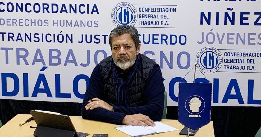 Gerardo Martínez cierra filas con el sector empresario para reclamar que no frenen las obras en curso: «No son fuente de contagio», aseguraron